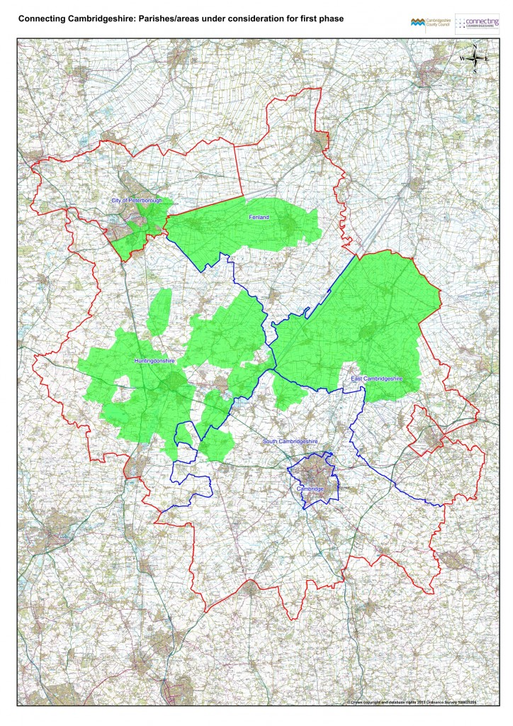 Parishes under consideration for first phase