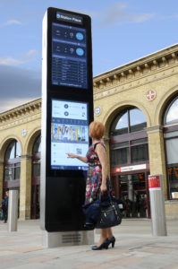 Smart Cambridge Digital Wayfinding Screen Train Station