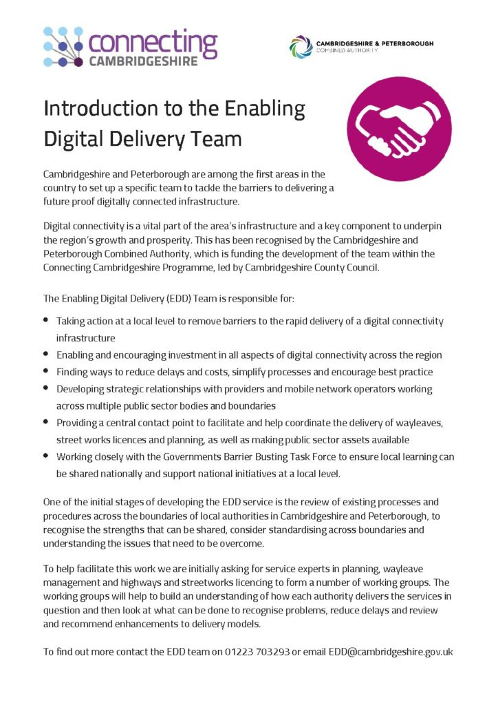 Introduction to Enabling Digital Delivery Team