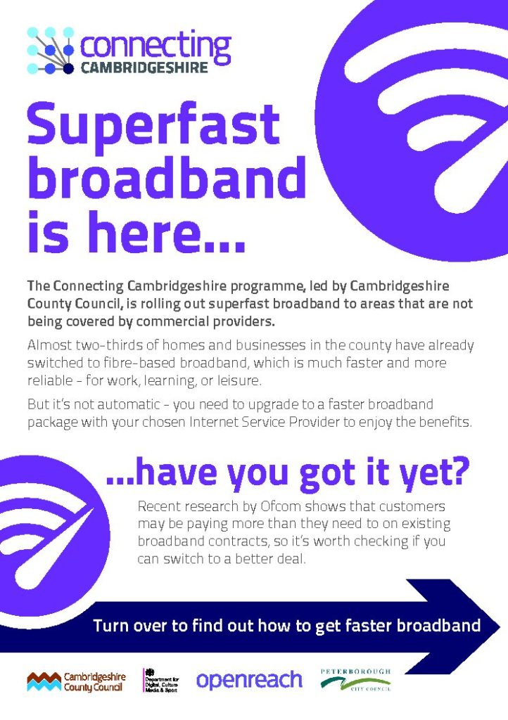Superfast Broadband Take-Up Flyer