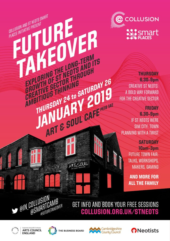 St Neots Future Takeover Poster