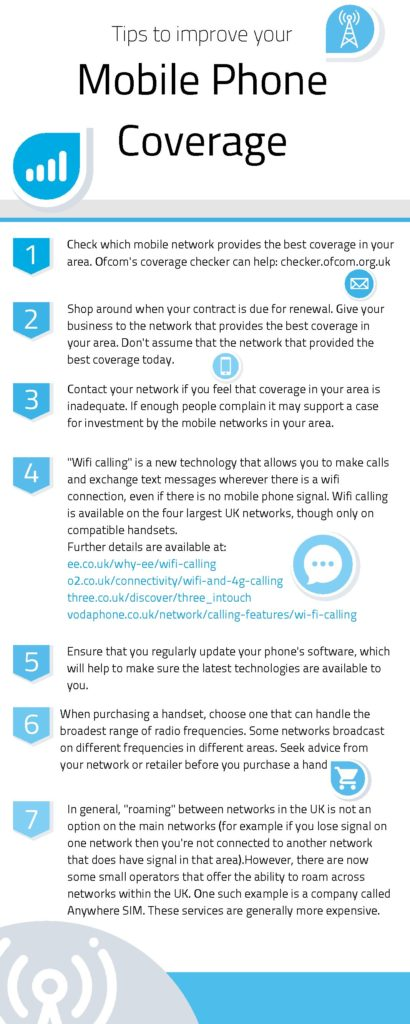 Tips to improve your mobile phone coverage