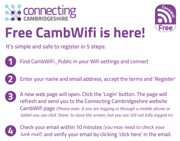 Free Access CambWifi instructions