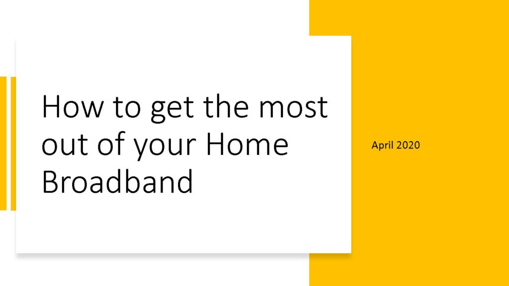 Home Broadband Networks