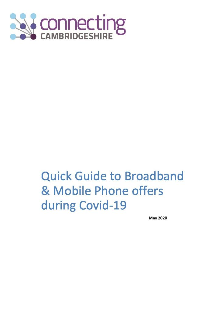 Quick Guide to Broadband and Mobile Phone offers during Covid-19