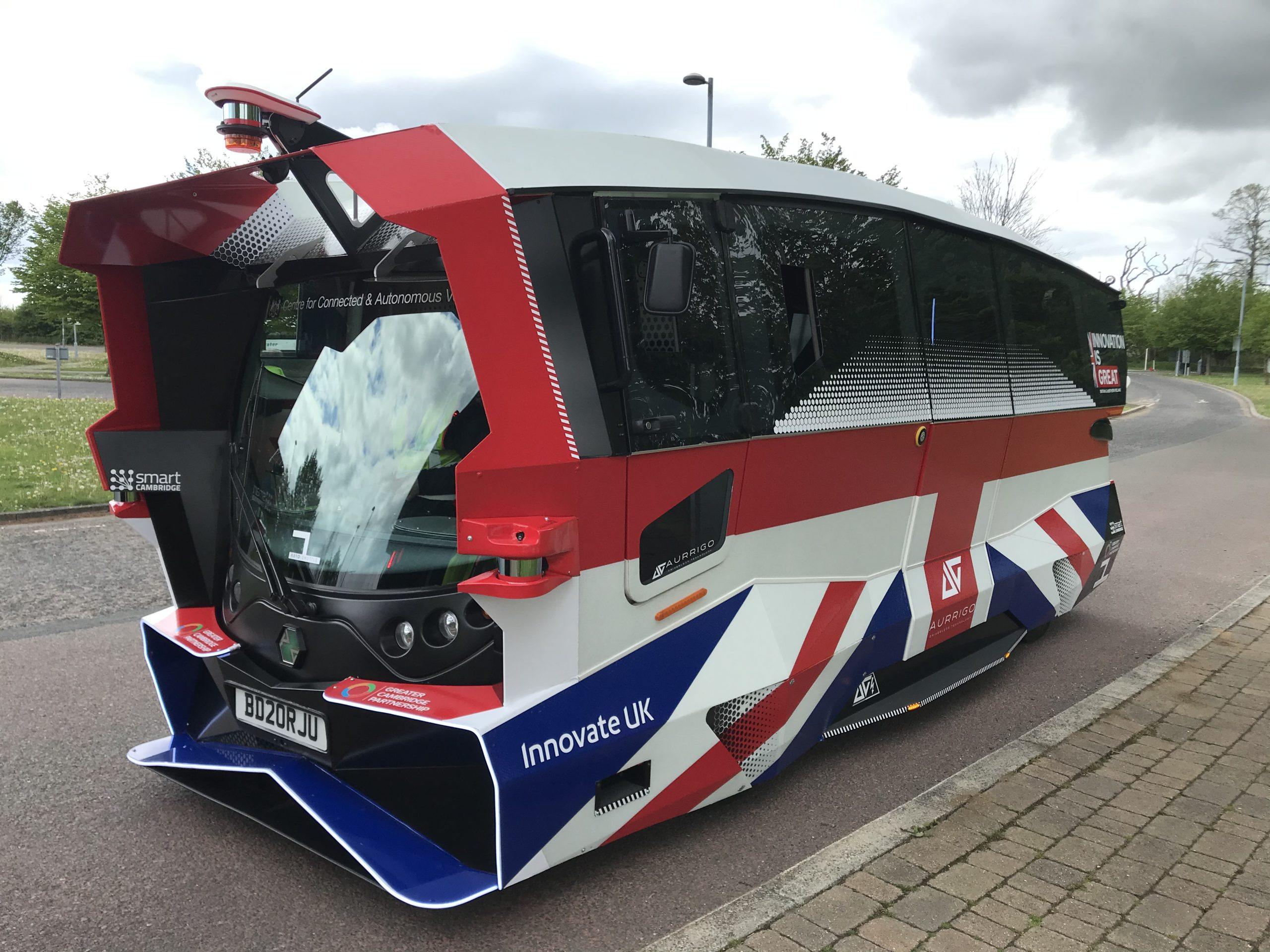 Ground-breaking self-driving shuttles carry passengers in Cambridge road trials
